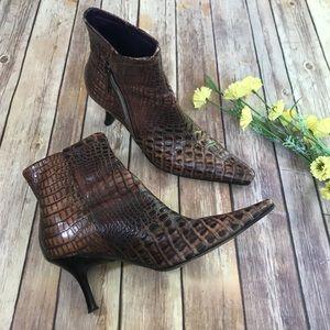 Donald J Pliner Alligator Print Boots